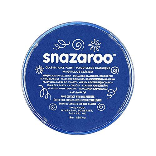 Snazaroo- Face and Body Paint, 18344, Bleu Vif