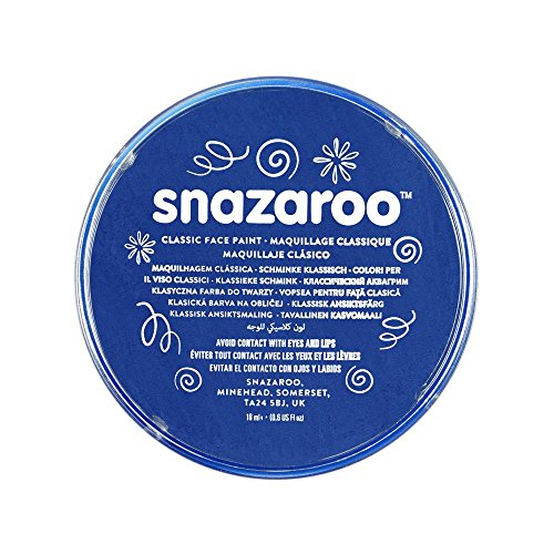 Snazaroo 1118344 Kinderschminke, hautfreundliche hypoallergene Gesichtschminke auf Wasserbasis, wasservermalbar, parabenfrei, königsblau, 18 ml Topf