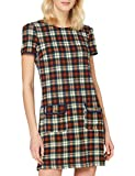 YUMI Country Check Tunic with Patch Pockets Robe décontractée, Marron, 42 Femme