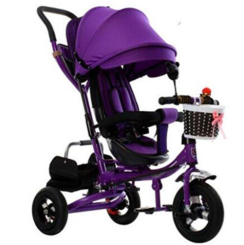 La Patrulla de la Pata del Triciclo 4-in-1 Child, Bicicleta Plegable de la Carretilla Embroma los triciclos del Empuje para la Bici de la Rueda del bebé 3 con el toldo Anti-Ultravioleta de la Moda