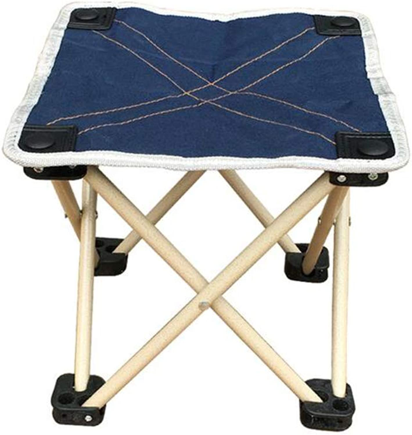 CJC Stool Folding Seat Rest Portable Tripod Camping Sports Lightweight Mountaineering (color   Dark bluee)