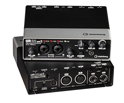 Steinberg UR22 mkII 2.0 channels USB - Tarjeta de sonido (2.0 canales, 24 bit, USB, Windows 10, Mac OS X 10.10 Yosemite,Mac OS X 10.11 El Capitan,Mac OS X 10.7 Lion,Mac OS X 10.8 Mountain