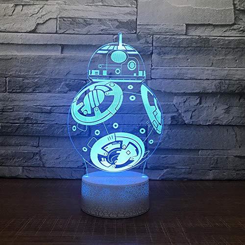 Jiushixw 3D acryl nachtlampje met afstandsbediening van kleur veranderende tafellamp staande lamp en bijpassende tafellamp abstracte tafellamp babykamer slaapkamer sfeerlicht