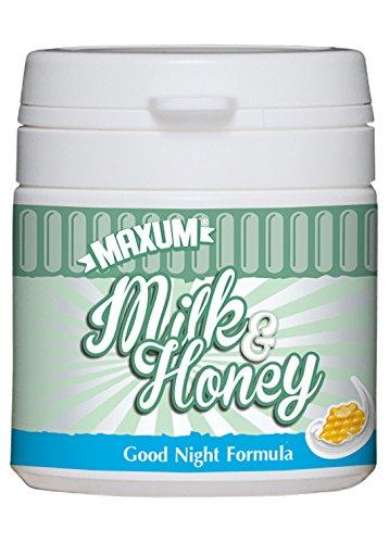 Maxum Milk & Honey, Anti-Stress-Produkt mit Lactium, durchschlafen, besser schlafen, entspannen, 50 Tabletten für 50 Tage