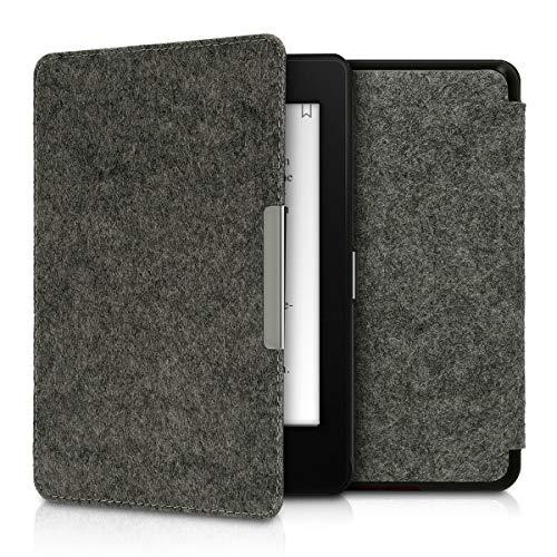 kwmobile Hülle kompatibel mit Amazon Kindle Paperwhite (10. Gen - 2018) - Filz Stoff eReader Schutzhülle Cover Hülle - Dunkelgrau