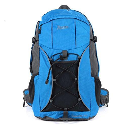Backpack éclairage extérieur Sac de randonnée imperméable/32L Sac à Dos de randonnée Riding-Blue 32L