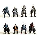 Action Figure 8 Pièces Godzilla: King of The Monsters Dinosaur Monstres Gigella étoiles Monstres Enfants Modèle Cadeaux d'anniversaire pour Enfants A