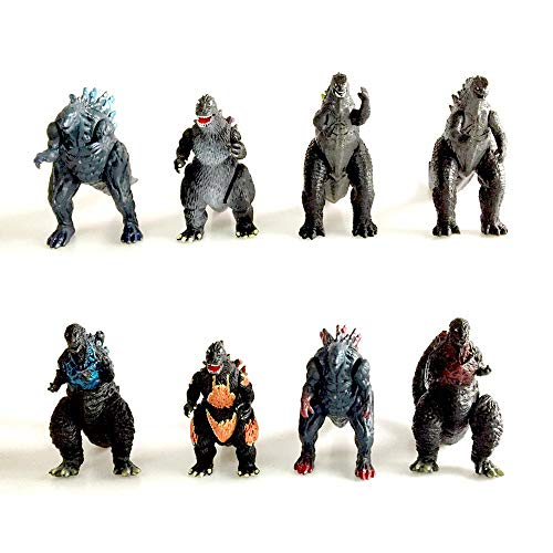 Tenage 8 Piezas Godzilla: El Rey De Los Monstruos Dinosaur Monsters Model Gigella Stars Monsters Kids Model