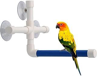 Bird Parrot Stand Perch Shower Perch Standing Toy Portable Suction Cup Parrot Bath Stands Suppllies Holder Platform Parake...