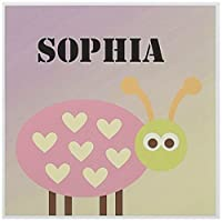 PS Creations–Sophiaてんとう虫名カスタマイズかわいい子供のアート–グリーティングカード Set of 12 Greeting Cards