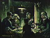 brandless Los comedores de Patatas Famosos Cuadros sobre Lienzo Arte de la Pared Imagen Decorativa para la Sala de Estar Decoración del hogar Sin Marco 40x50cm