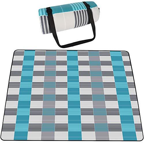 SKYSPER 200 x 200 cm Couvertures Tapis de Pique-Nique Imperméable Résistant à l