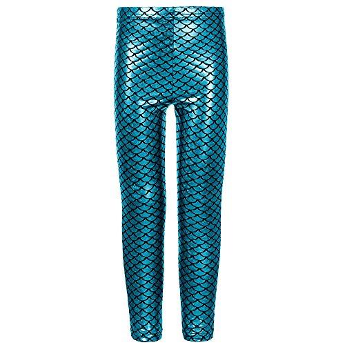 Fashion Mädchen Fischschuppen Meerjungfrau Leggings