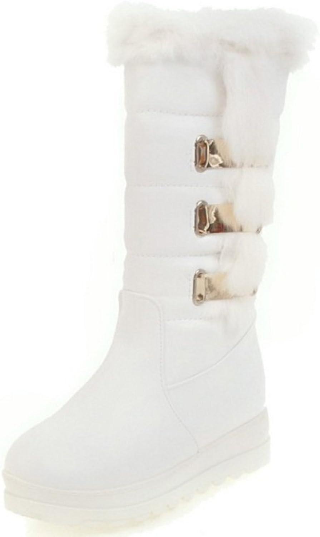 AicciAizzi Women Leisure Platform Mid Top Boots Pull On