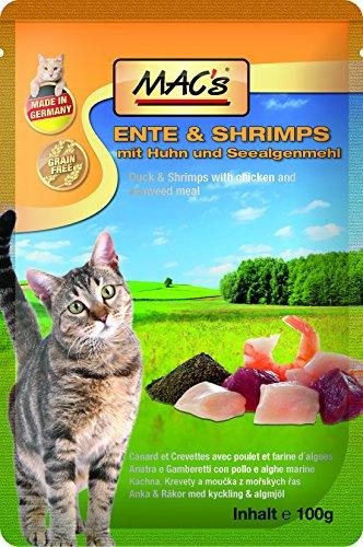 Mac's Ente & Shrimps mit Huh und Seealgenmehl 12 x 100 g