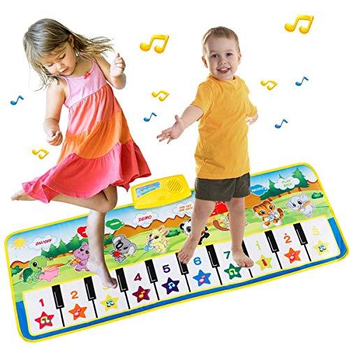 PROACC Klavier Playmat große Größe (39 * 14 Zoll) Kinder Klaviertastatur Musik Playmat Spielzeug, lustige Tanzmatte für Babys Kleinkind Jungen und Mädchen Geschenk …