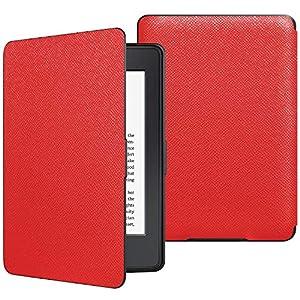 JETech Funda Amazon Kindle Paperwhite, Se Adapta a Todas Las Generaciones de Paperwhite Anteriores a 2018 (No es Compatible 10ª Generación), Rojo
