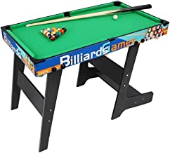 L-out Billiard Table for Indoor and Outdoor, Portable Fun Sports Game Durable Snooker Set with Accessories