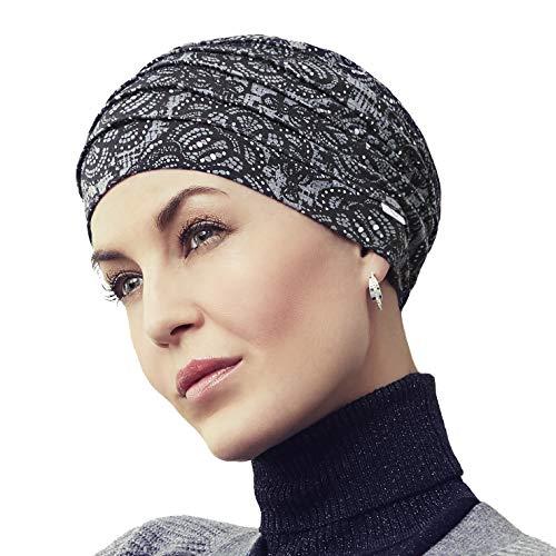 Christine Headwear Gorro Yoga con bambú Estampado Invierno para Mujeres en Tratamiento de quimioterapia (Estampado Encaje rococó)