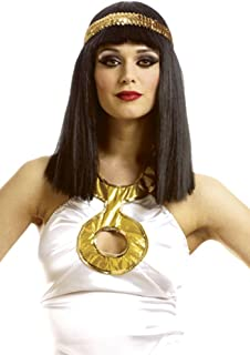 Costume Culture Women's Cleopatra Wig with Headband, Black, One Size