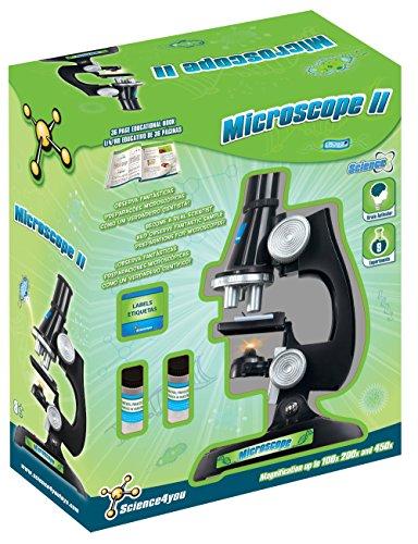 Science4you 481562 Mikroskop II Science4you-Mikroskop Wissenschaftliches und pädagogisches Spielzeug mit 9 Experimenten für Kinder ab 8 Jahren, bunt, Sin Talla
