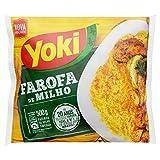 Yoki- Farofa de Milho - Harina de Maíz Especiada- Condimentada - Producto Brasilero- 500 Gramos