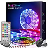 Nexillumi 20 ft LED Lights for Bedroom with Remote Color Changing LED Strip Lights