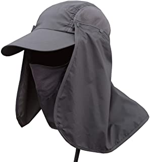 9c994208d10 Weixinbuy Outdoor Hiking Fishing Hat Protection Cover Neck Face Flap Sun  Cap for Men Women