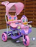 Dondolo - Triciclo per Bambini 2 in 1 - Anatra Triciclo con Effetti di Sonori - Rosa...
