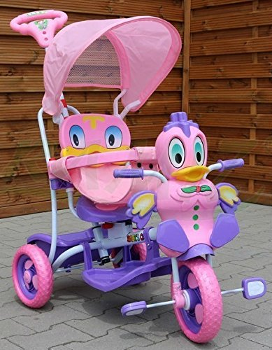 BSD Kinder Dreirad-Schaukelsitz 2 In 1 Ente Kinderwagen - Rosa