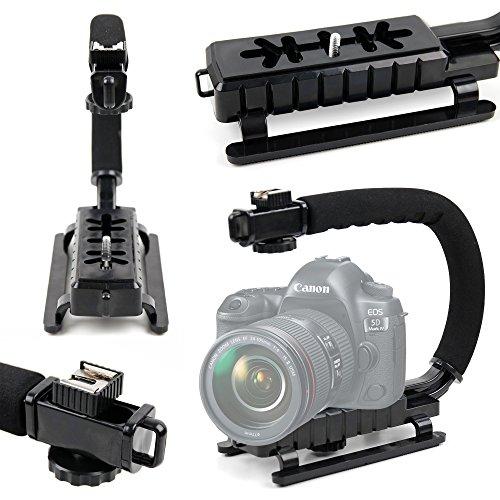 DURAGADGET Estabilizador de Imagen de Mano para cámara Canon EOS 1200D, 1300D / Rebel T6, 350D, 5D Mark IV, 5DS R, 5DS, 750D, 760D, 77D, 7D Mark II