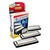 Best Harmonicas - Hohner 3P1501BX Bluesband Harmonica, Pro Pack, Keys of Review