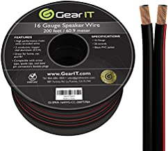 16AWG Speaker Wire, GearIT Pro Series 16 Gauge Speaker Wire Cable (200 Feet / 60.96 Meters) Great Use for Home Theater Speakers and Car Speakers, Black