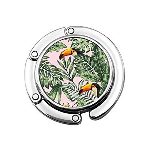 Percha para Monedero de pájaro de Palma de la Selva Tropical, Percha para Oficina, Organizador de monederos, diseños únicos, sección Plegable, Almacenamiento, Perchero para Escritorio