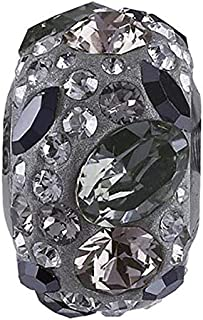 SWAROVSKI pave Medley Bead Multi Color Stainless Steel Becharmed 14 mm-9.30 mm