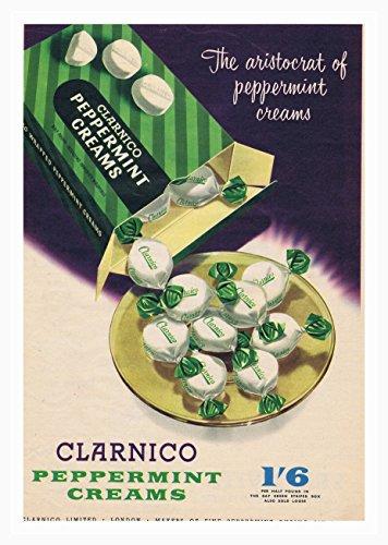 Clarinco Mints Pepermunt Doos Poster Foto Vintage Oude Advert Artwork Klassiek Ouderwetse Commerciële