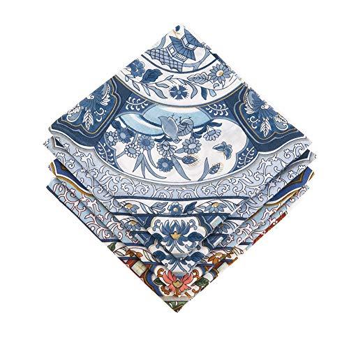 43 x 43 cm 6//12 pezzi nonno HOULIFE Fazzoletti da uomo 100/% cotone 60S classico motivo scozzese a scacchi colorato plaid fazzoletti per pap/à festa del pap/à