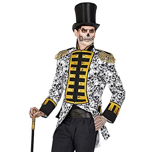 WIDMANN 50290 50290-Dia de los Muertos Parade Disfraz Uniforme Garde Da de la Muerte Chaqueta, Abrigo, Director de circo, Disfraz, Carnaval, Fiesta temtica, Hombre, Multicolor, XXL