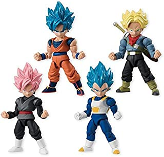 Dragon Ball Super 66 Action Dash Super Saiyan Character Mini Action Toy Figure Statue Set of 4 approx. 66mm / 2.6
