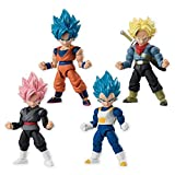 Dragon Ball Super 66 Action Dash Super Saiyan Character Mini Action Toy Figure Statue Set of 4 approx. 66mm / 2.6'in