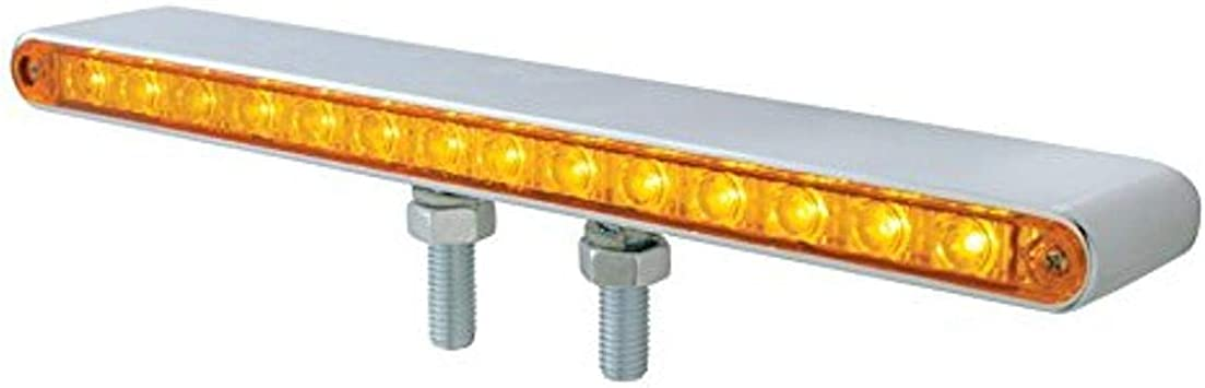 """United Pacific 30274 Chrome 1-Piece Rear Light Bar with Six 4/"""" Lights /& Bezels"""