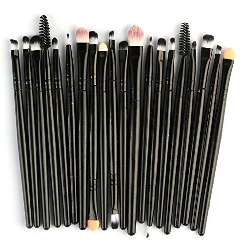 DMXY 20pcs pinceaux de maquillage professionnel ensemble outils composent trousse de toilette laine composent maquillage blush fard à paupières fondation brosse,A
