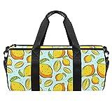 Bolsa de deporte para hombre o mujer, diseño vegano de limón cítrico