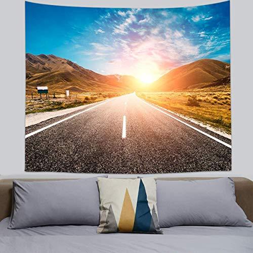 Tapiz para colgar en la pared, diseño de mandala, tarta, paisajismo, tarjeta estampada, para decoración de pared, tapiz para salón, dormitorio, 8,150 x 130 cm