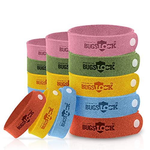 Mosquito Repellent Bracelets, LAMA [18 Pack] Mosquito Repellent Bands Reusable Long Protection Natural Anti Mosquito Wristbands No Deet for Kids Babies Adults Men and Women