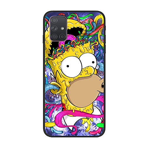 Soft Black Shockproof Thin Durable Flexible Case for Samsung Galaxy A51-The-Simpson Homer-Father 2