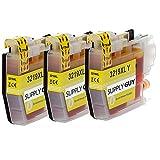 SupplyGuy 3 XL cartucce compatibile con Brother LC-3219 Giallo per MFC-J5330dw MFC-J5335dw MFC-J5335dwf MFC-J5730dw MFC-J5930dw MFC-J6530dw MFC-J6535dw MFC-J6930dw MFC-J6935dw MFC-J6935dwf