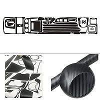 ドア内部セントラルコントロールパネルドアハンドルカーボンファイバーステッカーデカールカースタイリングAccessori e for V-W GO-LF 5 GTI MK5 2 カー用品 (Color Name : Ice matt black, Size : Style B RHD)