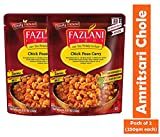FAZLANI ALIMENTOS Listo para comer Amritsari Chole-garbanzos al curry, -Pack de 2, 250 gramos cada