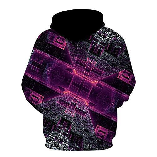 PRJN Men's 3D Long Sleeve Hoodie Unisex 3D Hoodie Sweatshirt Printed Hoody Drawstring Pullover with Pocket 3D Mens Hoodie Multi Coloured Tops Casual Pullover Long Sleeve Fleece Hoody with Pockets